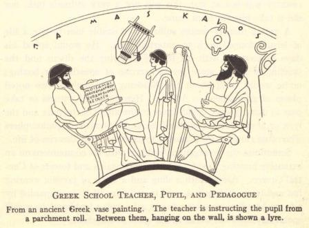Education in Ancient Greece (Photo Credit: studenthandouts.com)